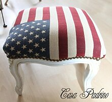 Casa Padrino Barock Fußhocker USA Design/Creme -