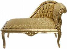 Casa Padrino Barock Kinder Chaiselongue Gold Muster / Gold Mod2 - Tron Barock Möbel