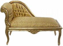 Casa Padrino Barock Kinder Chaiselongue Gold