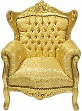 Casa Padrino Barock Kinder Sessel Gold Muster/Gold