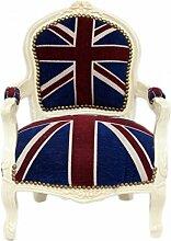 Casa Padrino Barock Kinder Stuhl Union Jack/Creme - Kindermöbel