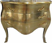 Casa Padrino Barock Kommode Gold 100 cm - Antik