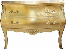 Casa Padrino Barock Kommode Gold mit 2 Schubladen