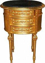 Casa Padrino Barock Kommode Gold mit Schwarzer