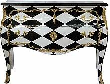 Casa Padrino Barock Kommode Karo Design 124 cm