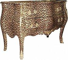 Casa Padrino Barock Kommode Leopard mit goldenen