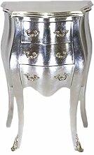 Casa Padrino Barock Kommode Silber H 70 cm, B 50