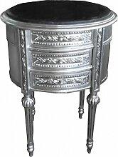 Casa Padrino Barock Kommode Silber mit