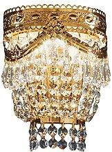 Casa Padrino Barock Kristall Wandleuchte Gold 17 x