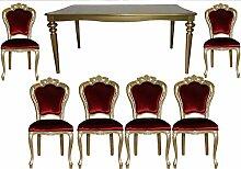 Casa Padrino Barock Luxus Esszimmer Set