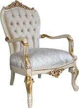 Casa Padrino Barock Luxus Salon Sessel mit Bling