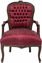 Casa Padrino Barock Salon Stuhl Bordeaux Rot