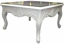 Casa Padrino Barock Salon Tisch Weiß 70 x 70 cm -
