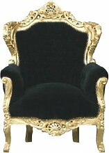 Casa Padrino Barock Sessel 'King' Schwarz/Gold