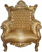Casa Padrino Barock Sessel Al Capone Gold - Antik