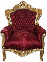 Casa Padrino Barock Sessel King Bordeaux