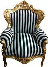 Casa Padrino Barock Sessel King gold mit