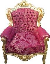 Casa Padrino Barock Sessel King mit Bling Bling