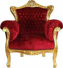 Casa Padrino Barock Sessel Lord Bordeaux/Gold