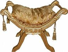 Casa Padrino Barock Sitzbank ModA1 Gold Muster / Gold - Barock Möbel