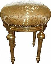 Casa Padrino Barock Sitzhocker - Rundhocker Gold