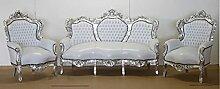 Casa Padrino Barock Sofa Garnitur Weiß