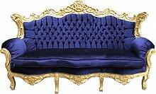 Casa Padrino Barock Sofa Master Royal Blau/Gold -