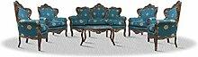 Casa Padrino Barock Sofa Set 3er Sofa 4 Sessel und