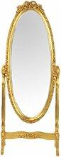 Casa Padrino Barock Standspiegel Schwenkbar Gold -