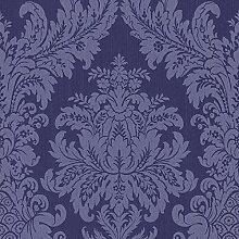Casa Padrino Barock Textiltapete Blau 10,05 x 0,53