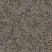 Casa Padrino Barock Textiltapete/Stofftapete Braun