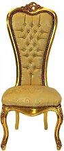 Casa Padrino Barock Thron Stuhl Queen Anne Gold