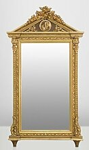 Casa Padrino Barock Wand Spiegel Gold H 204 cm B