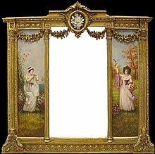 Casa Padrino Barock Wandspiegel Gold - B. 152,5 cm