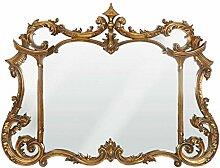 Casa Padrino Barock Wandspiegel Gold H 99 cm, B 128 cm - Edel & Prunkvoll