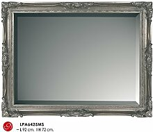 Casa Padrino Barock Wandspiegel Silber H 92 cm B