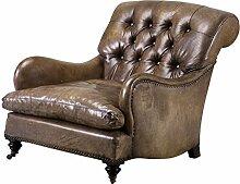 Casa Padrino Chesterfield Luxus Echt Leder