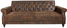Casa Padrino Chesterfield Sofa Antik Braun mit