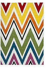 Casa Padrino Design Teppich Bunt - Designer