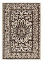 Casa Padrino Design Teppich Creme - Designer Teppich, Grösse:80 x 150 cm
