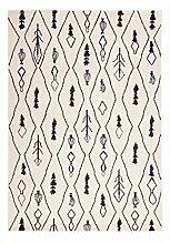 Casa Padrino Design Teppich Elfenbein - Designer