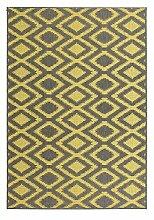 Casa Padrino Design Teppich Grau Gelb - Designer
