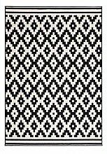 Casa Padrino Design Teppich Schwarz Weiß -
