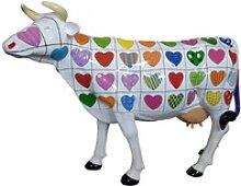 Casa Padrino Designer Gartendeko Skulptur Kuh mit
