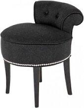 Casa Padrino Designer Hocker Stuhl aus massivem