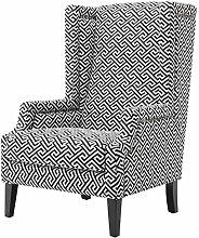 Casa Padrino Designer Sessel Schwarz/Weiß - Luxus