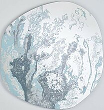 Casa Padrino Designer Spiegel Blau 100 x H. 105 cm