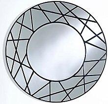Casa Padrino Designer Spiegel Schwarz Ø 102 cm -