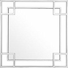 Casa Padrino Designer Wandspiegel Silber 90 x H.