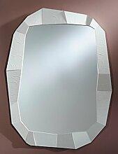 Casa Padrino Designer Wandspiegel Weiß 92 x H.